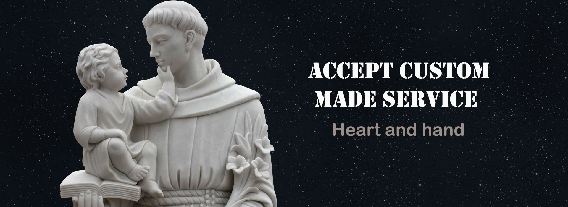 Best price white marble statue largest saint Anthony statue quotes for church garden decoration Asia