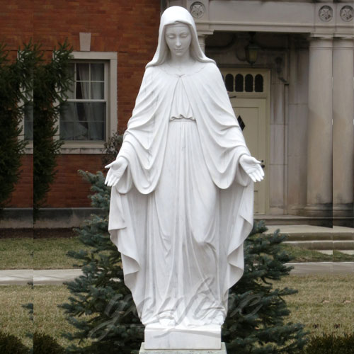 Buy 2018 Home Decoration White Marble Our lady of Grace Mary Statues in Stock