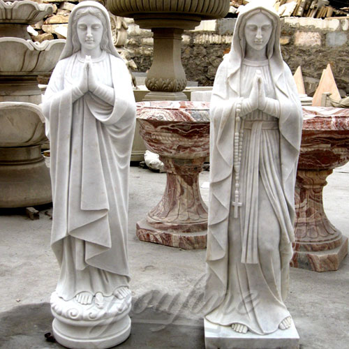 Religious Statues of Blessed Marble Virgin Mary Statue 5.6 Foot for Hot Selling
