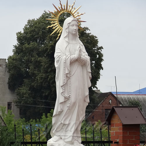 Cathedral Blessed Virgin Mary Mother Large Garden Statue 5.2 Foot on Sale