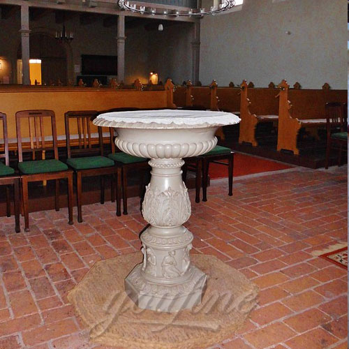 Factory Supplier Religious Statues of Small Marble Water Font Design in Stock Now