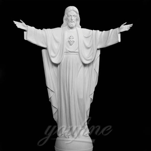 Religious garden Decorative White Marble Jesus Statues around the world
