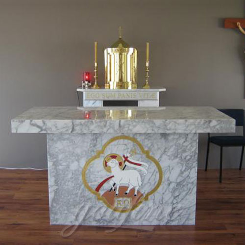 Religious catholic Statues of Marble Church Altar items from Factory supplier