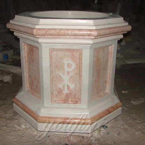 Indoor Religious Statues of Stone Water Font of Church from China Supplier