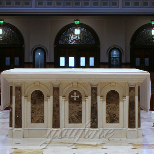 Indoor Large Antique Marble Altar Religious Statues Catholic for Church Decoration