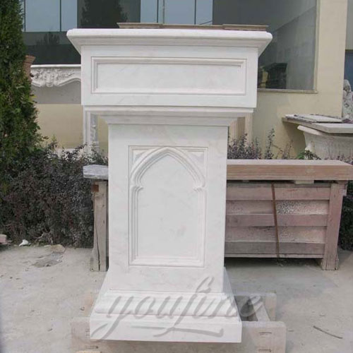 Modern religious statues catholic White Marble church pulpit furniture