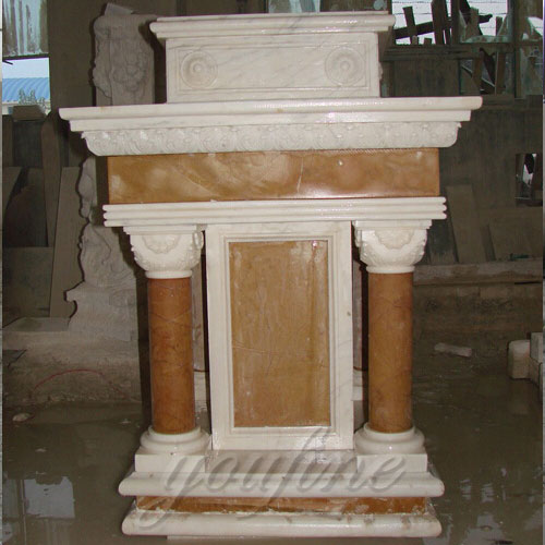 Modern holy religious Statues antique beige marble church pulpit decoration indoor