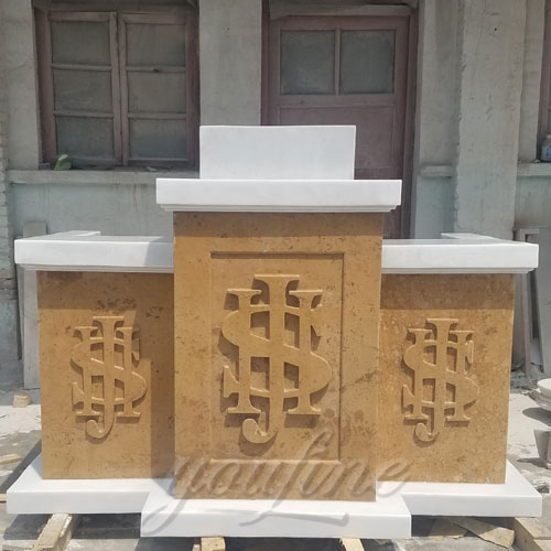 New Design Christian Religious Statues of Marble church Pulpit furniture design
