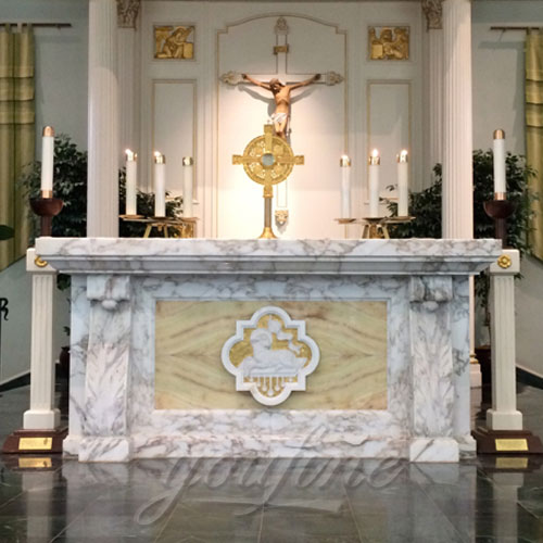 Religious Catholic Statues of Marble Altars Table designs for Church furniture