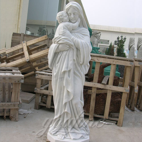 Outdoor Garden Sculpture Virgin Mary and Jesus Catholic Statues 5.9 foot for Sale