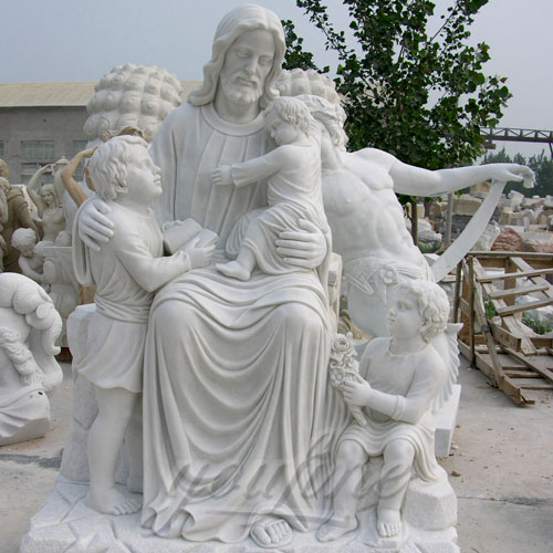 Outdoor Religious Garden Statues of Jesus with Child Design