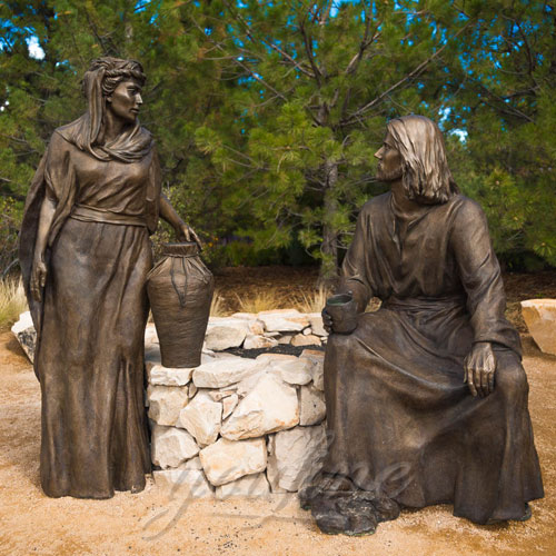 Famous Outdoor Bronze Religious Garden Black Jesus Figures Statue for sale