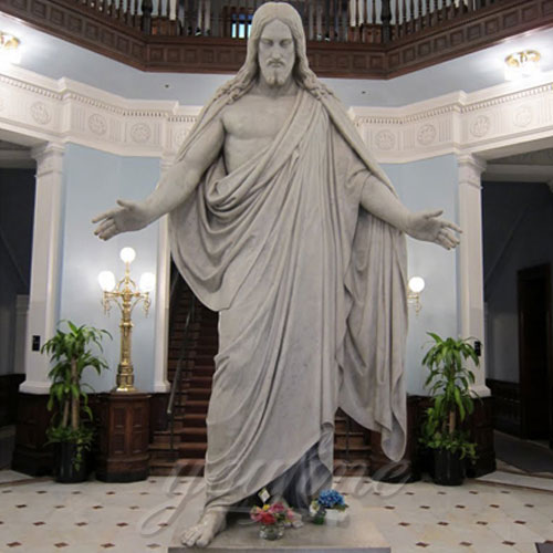 Buy Interior Decorative White Marble Jesus with Open Hand for home