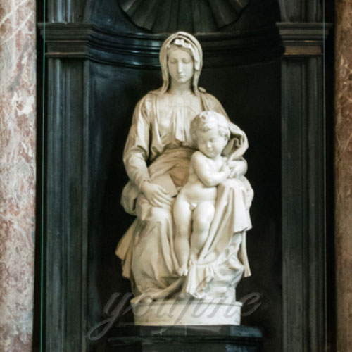 The Price of Outdoor Marble Religious Garden Statues of Mary and Baby Jesus Sculpture