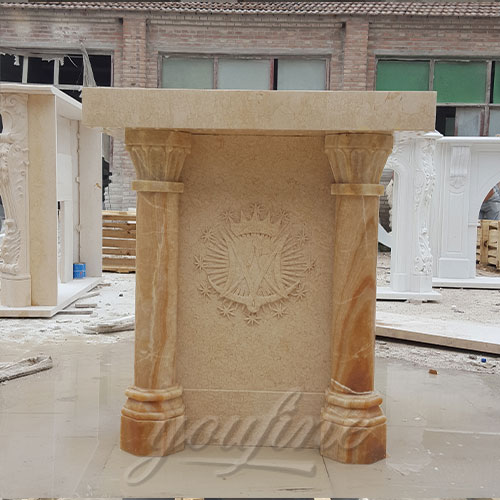 Wholesale Religious Statues of Marble Carving Church Pulpit furniture decoration