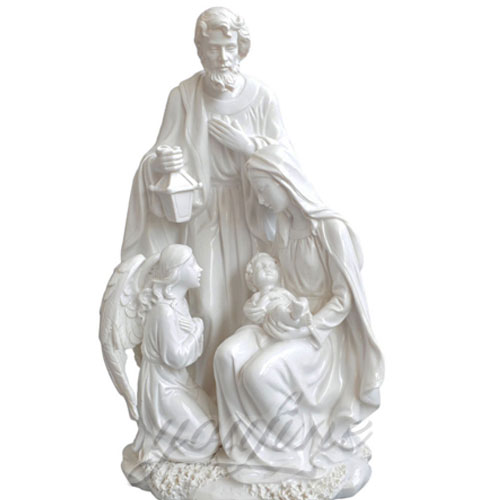 Virgin Mary Indoor Statue Marble Jesus Family Statues for Indoor Decor