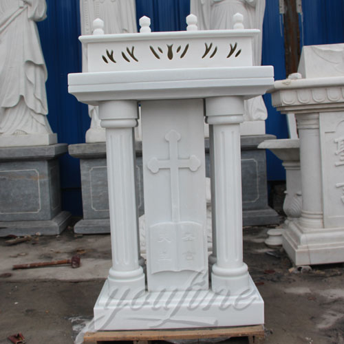 White Marble Church Lectern Pulpits furniture Decor for sale