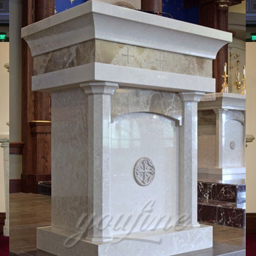 Religious Statues of Hand Carved Marble catholic church Pulpit decoration for Sale