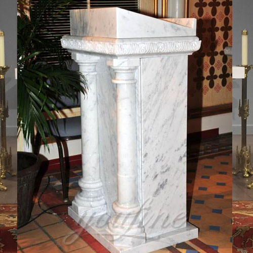 Wholesales Religious statues of White Marble church Pulpit furniture for Sale
