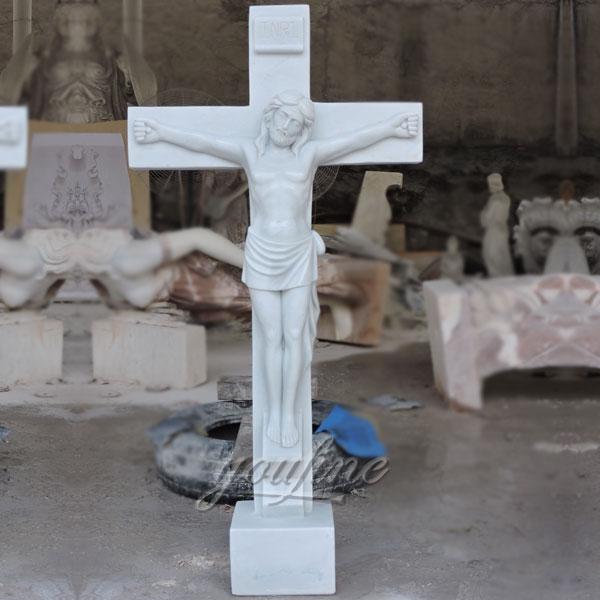 Religious statues of church marble crucifixes made for Carlos