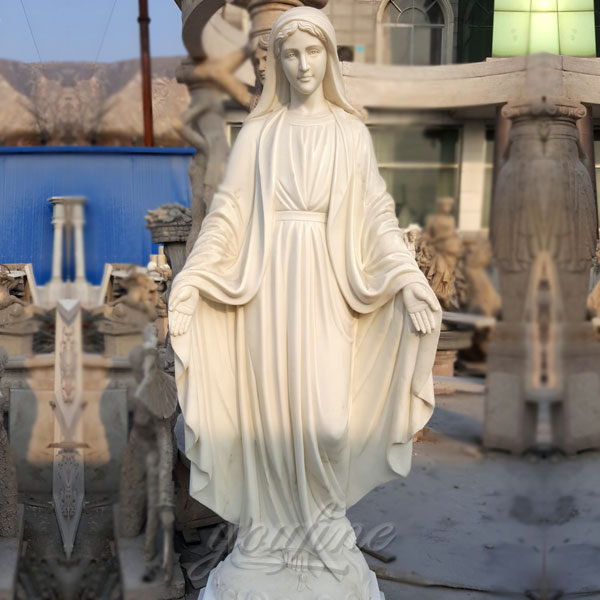 Catholic religious garden marble mary our lady of grace statues 5.2 foot design