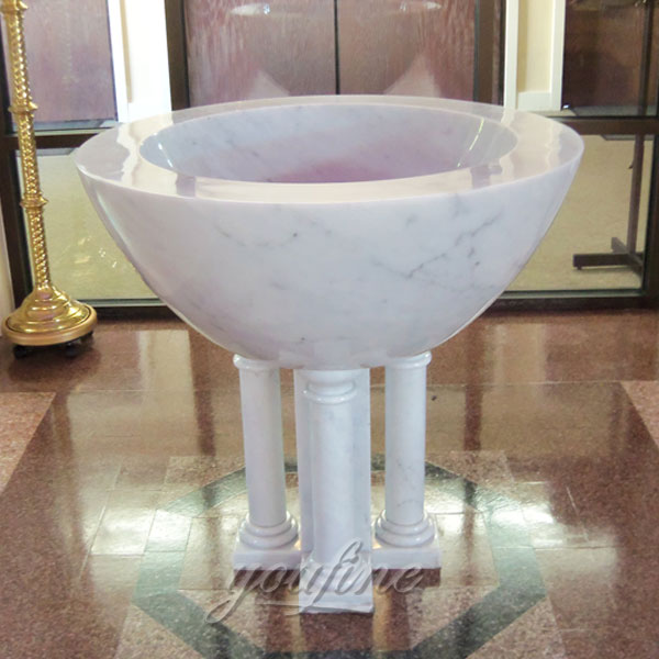 Buy church interior decor of marble holy water font design
