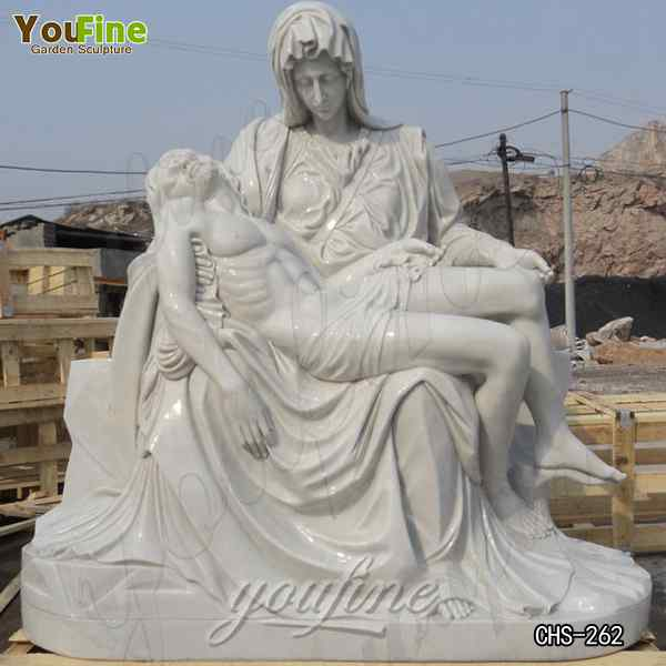 Famous Religious Marble Michelangelo Pieta Statue for Church Decoration Replica CHS-262
