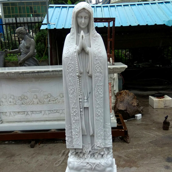 Holy sculptures of virgen de fatima statue religion statues on doscount