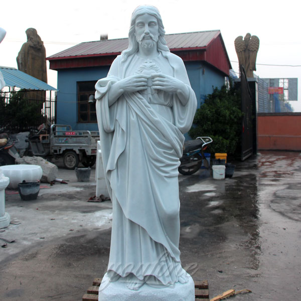 Large stone religious statues of sacred heart jesus for garden sale