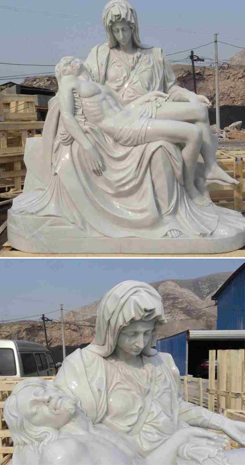 Marble Michelangelo Pieta Statue
