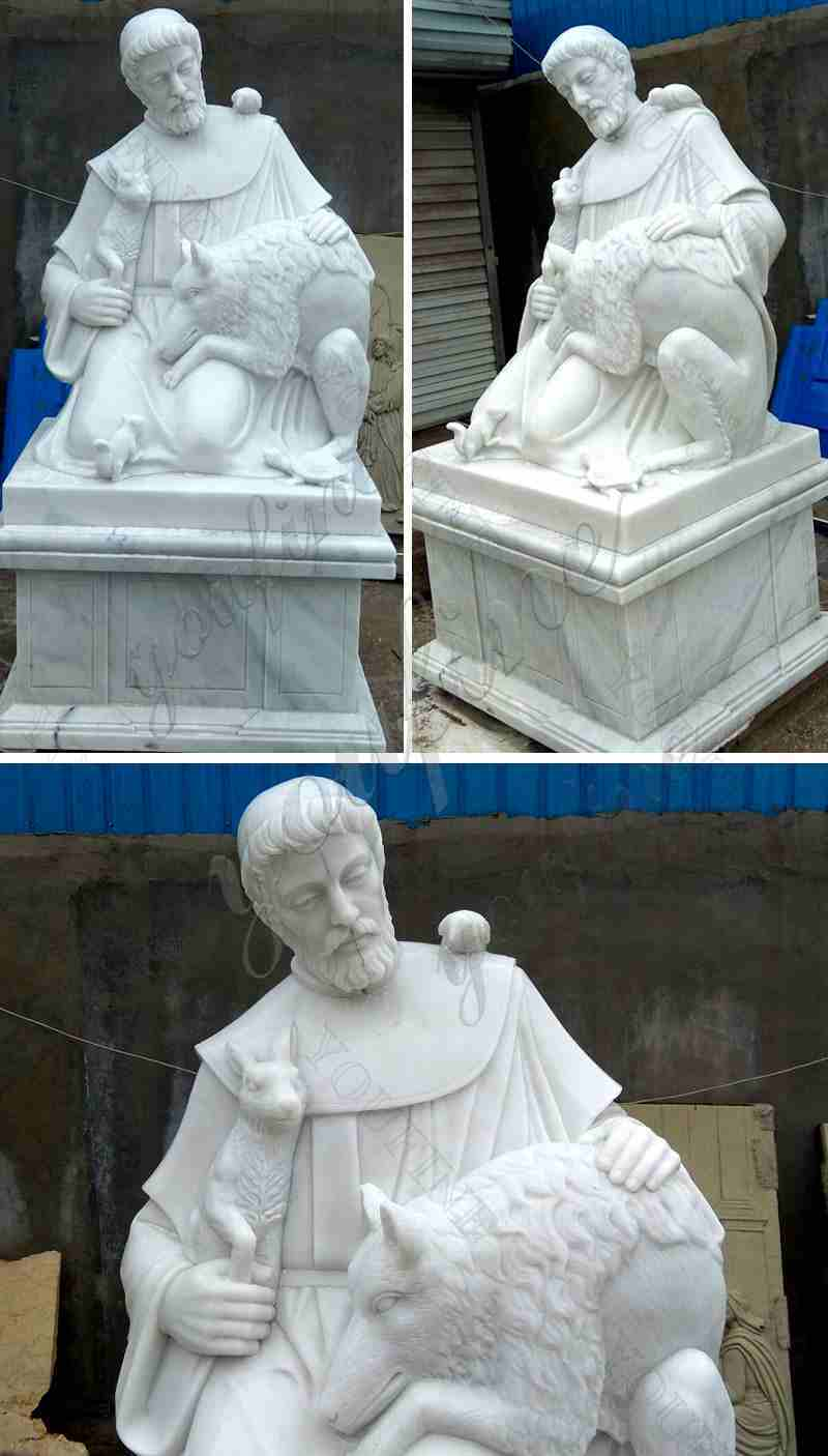Marble Saint Statues of St. Francis