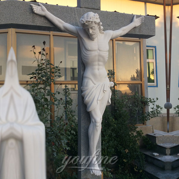 Marble carving catholic crucifix cross for sale