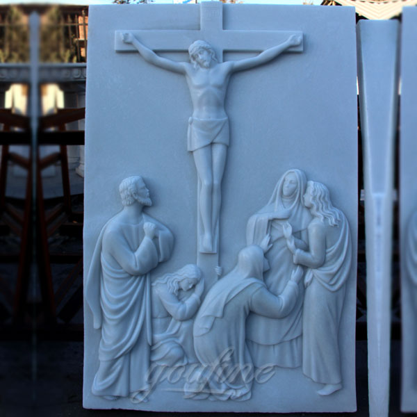 Marble the way of the cross catholic relief sculptures for sale