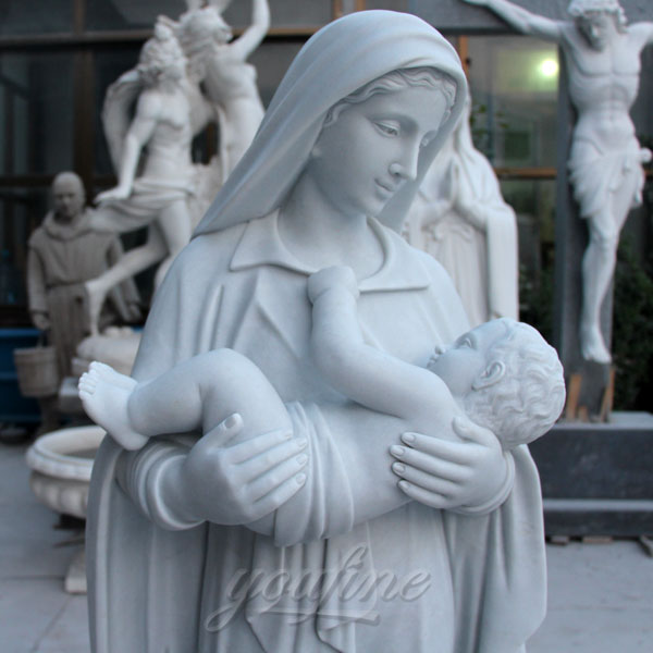 Mother Virgin Mary With Baby Jesus Religious Statues For Church Outdoor  Decor