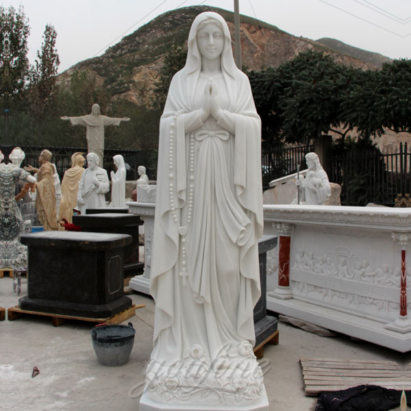 Outdoor catholic statues of our Lady of Lourdes for outside