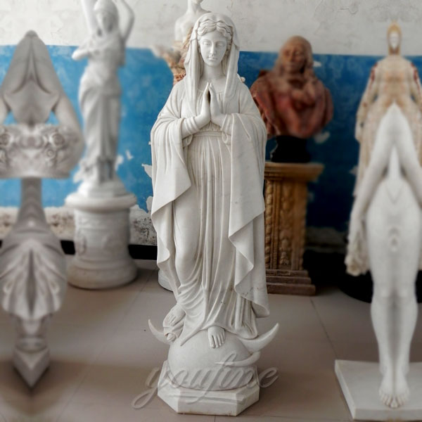 Outdoor garden religious statue of the virgin mary for sale