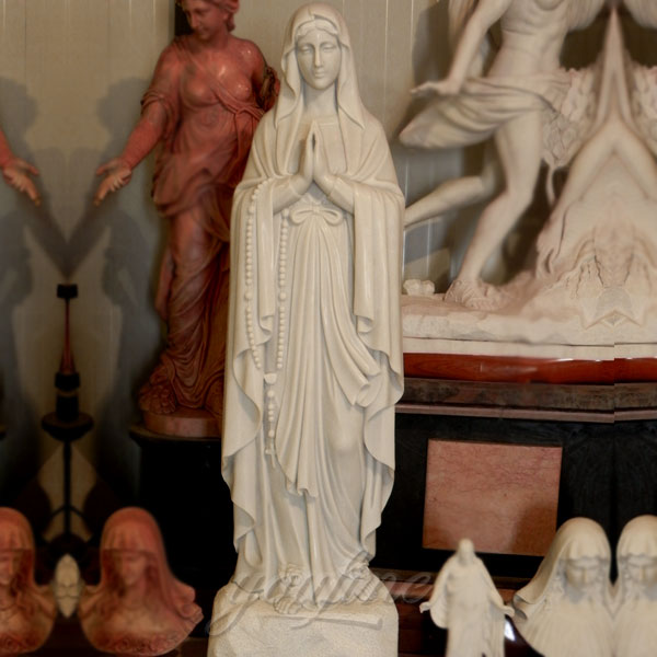 Outdoor life size st mary garden statues for sale