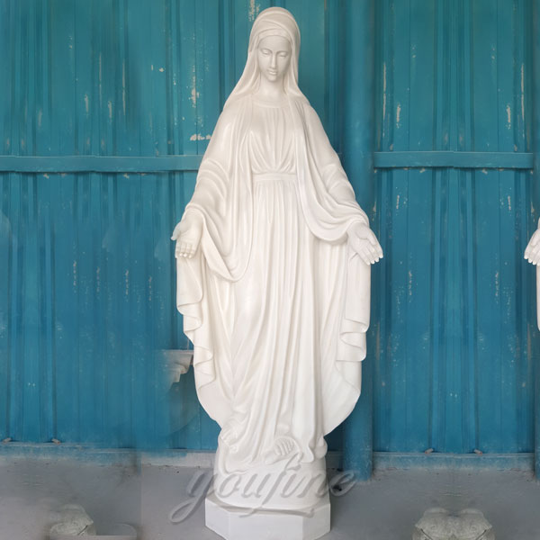 Outdoor white marble mary religion statues catholic of our lady of grace church