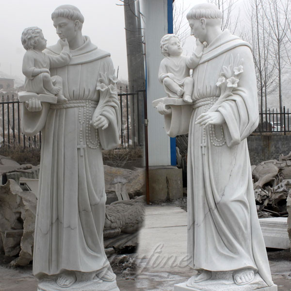 Religious marble saint statues of St. Anthony for church