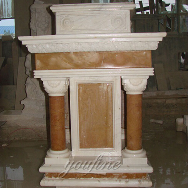 Factory supplier religious statues of antique marble church pulpit design for sale