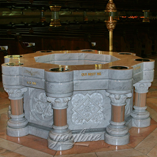 Religious indoor statues of large marble water font design to buy