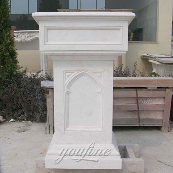 Religious statues of white marble church pulpit design for sale