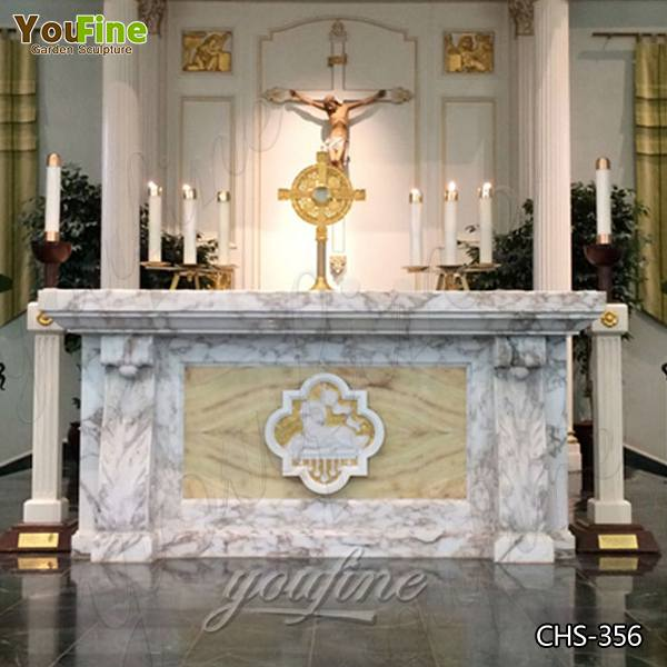 Where to Buy Religious Church Marble Altar Table with Lamb Decor Design CHS-356