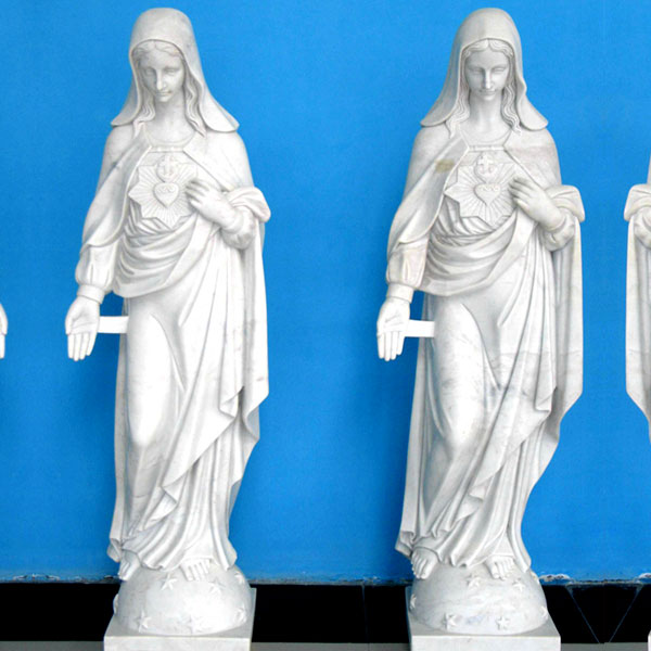 life size sacred heart mary garden statues for catholic church decor
