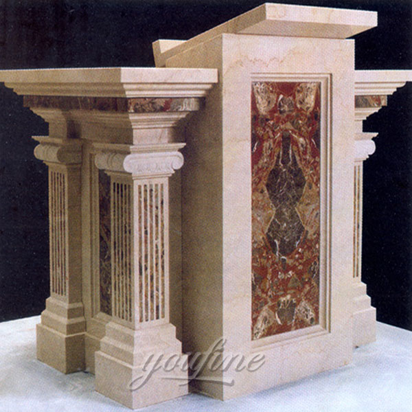 Religious antique luxury antique marble altar designs for church decor on discount