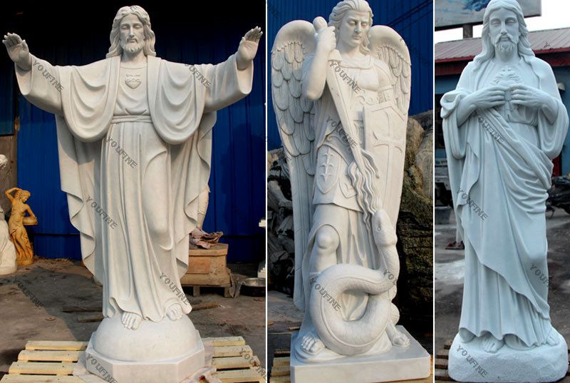 Jesus Christ White Marble Statue for Sale