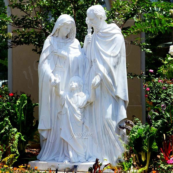 Large Outdoor Famous Holy Family White Marble Statue Designs for Sale CHS-605