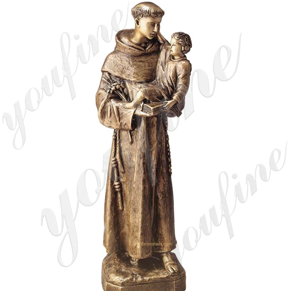 Bronze St Anthony with Baby Jesus Garden Statue Outdoor Design for Sale BOKK-625