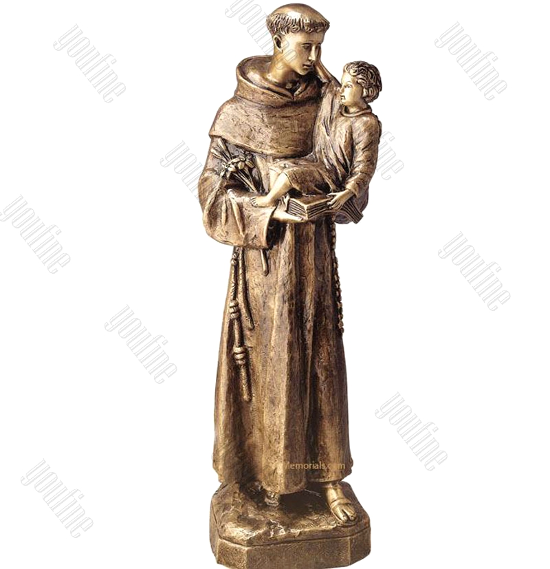 St Anthony with Baby Jesus Garden Statues