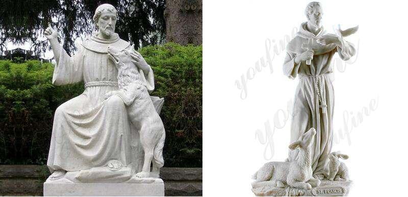 st-francis-garden-statue-bird-feeder-for-sale